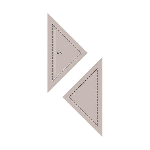 Die - QU - Quilting Quarter Square Triangle 4in