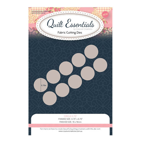 Die - QU - Quilting Circle 0.75in