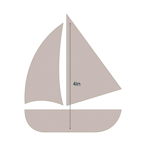Die - QU - Quilting Applique - Sail Boat