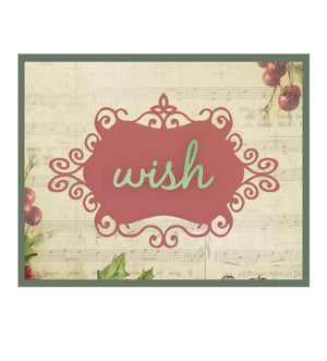 Die - CH - Christmas Wish 2pcs (100 x 67.1mm - 3.9 x 2.6in)