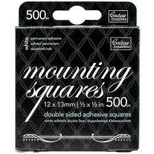 Couture Creations - Mounting Squares White Permanent (500)