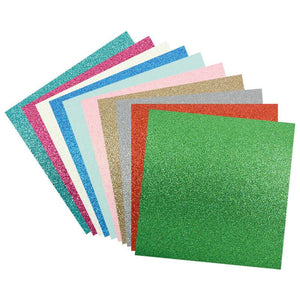 Glitter Paper - Assorted Colours (210gsm - 10pc)
