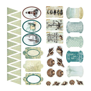 Couture Creations - Adhesive Chipboard - Sea Breeze Collection