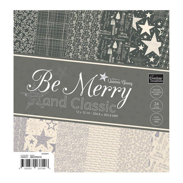 Couture Creations - Be Merry and Classic - 12 x 12 Paper Pad WH