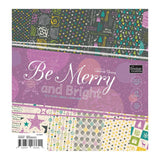 Paper Pad - BM - Be Merry and Bright 12x12 (24 dbl sheets)