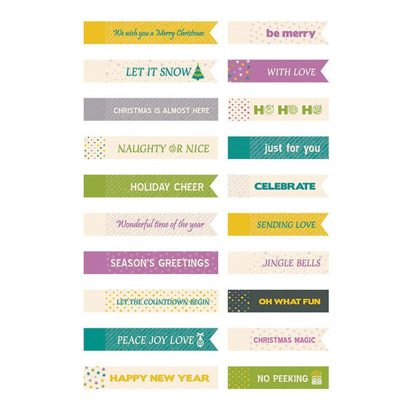 Mini Tags - BM - Be Merry and Bright Set (20 pieces)