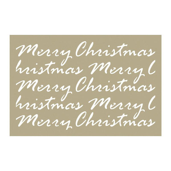 Stencil - BM - Merry Christmas Script (4 x 6in)
