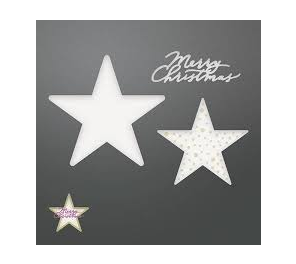 Couture Creations Be Merry Collection - Merry Layered Stars Set