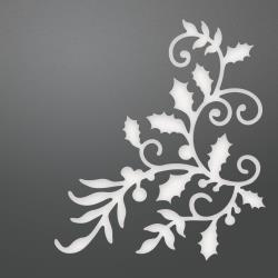 Couture Creations Be Merry Collection - Holly Flourished Corner