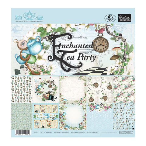 Paper Pad - ET - Enchanted Tea Party 12x12 (24 dbl sheets)