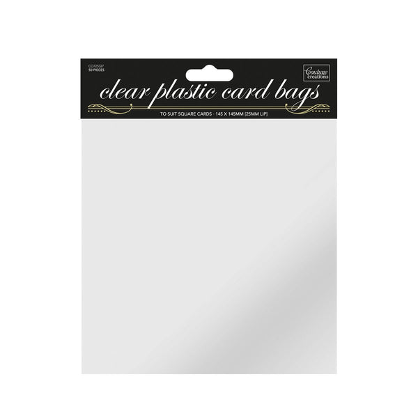 Couture Creations - Card Bags - Cello Self Seal Bags Square Size (145mm x 145mm) - 50 Pck