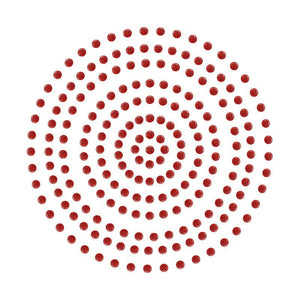 Adhesive Pearls - Deep Red (2mm- 424pc)