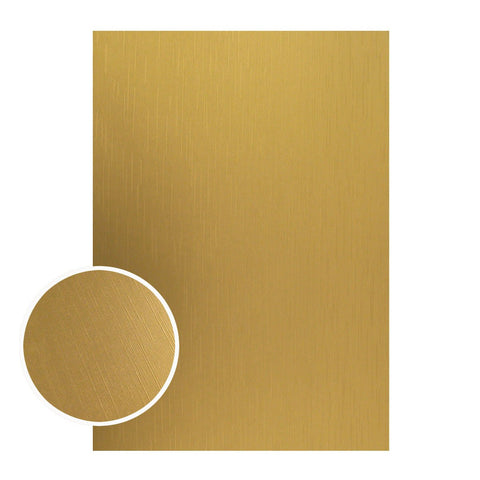 Mirror Foil Board - A4 Matte gold lines (10pc - 210gsm)
