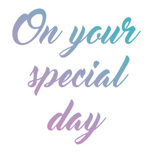 Couture Creations Le Petit Jardin Collection Mini Stamp - Special Day (1pc) WH