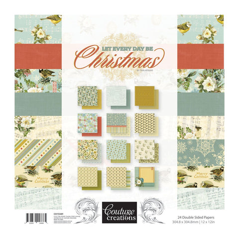 Paper Pad - LE - Let Every Day Be Christmas 12x12 (24 dbl sheets)