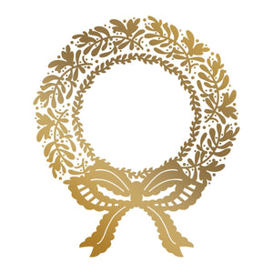 Anna Griffin - Christmas Wreath Hotfoil Stamp (87 x 101.6mm | 3.4 x 4in)