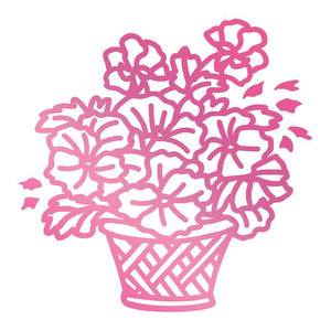 Hotfoil Stamp - CLV - Basket of Flowers Hotfoil Stamp (1pc)