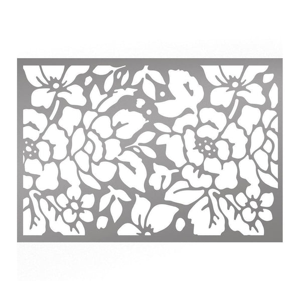 Couture Creations - C'est La Vie Rosy Background Stencil WH