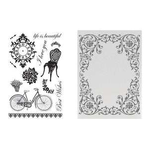 Stamp & Emboss Set - CLV - Extravagant Days - for A2 cards