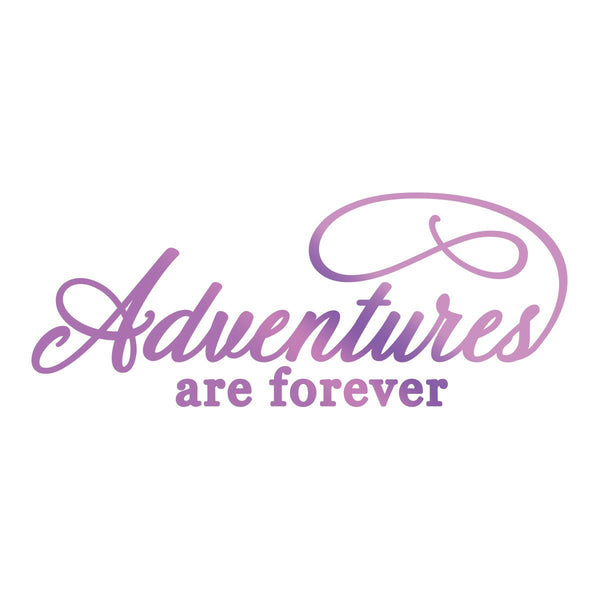 Hotfoil Stamp - ES - Adventures Sentiment