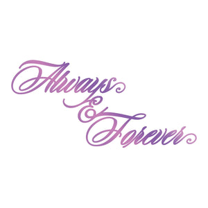 Hotfoil Stamp - ES - Always & Forever Sentiment
