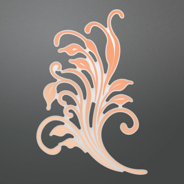 Cut and Foil Die - N - Sweeping Flourish