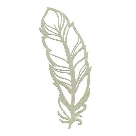 Chipboard - CO - Delicate Feather (1pc)