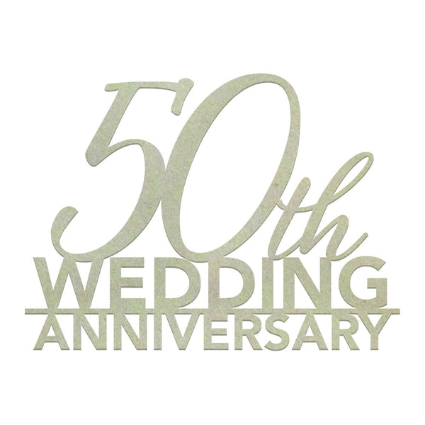 Chipboard - CO - 50th Wedding Anniversary