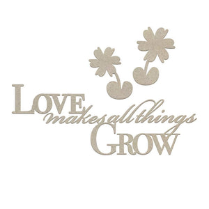 Couture Creations - Cest La Vie Makes All Things Grow Sentiment Chipboard (5pc) WH