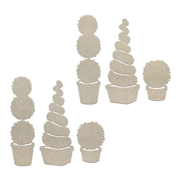 Chipboard - LPJ - Topiary Trees Set (6pc)