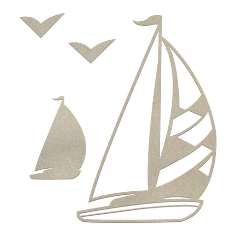 Chipboard - Boys - Sailboat Set (4pc)