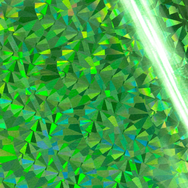 Foil - Green (Iridescent Triangular Pattern) - Heat activated | Couture Creations