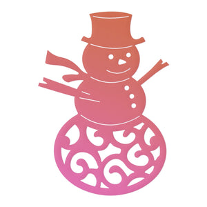 Couture Creations - Highland Christmas Filigree Snowman Mini Die (1 pc)