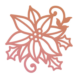 Couture Creations - Highland Christmas Poinsettia Flourish Mini Die (1 pc)