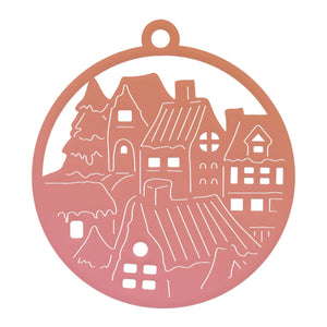 Couture Creations - Highland Christmas Small Town Tag Mini Die (1 pc)