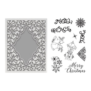 Couture Creations - Highland Christmas Noel Stamp and Emboss Set (for A2 cards)