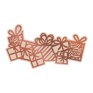 *Pre-Order* Couture Creations - Highland Christmas Flurry of Presents Cut, Foil and Emboss Die (1 pc)