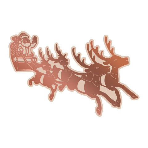 *Pre-Order* Couture Creations - Highland Christmas Santa's Sleigh Cut, Foil and Emboss Die (1pc)