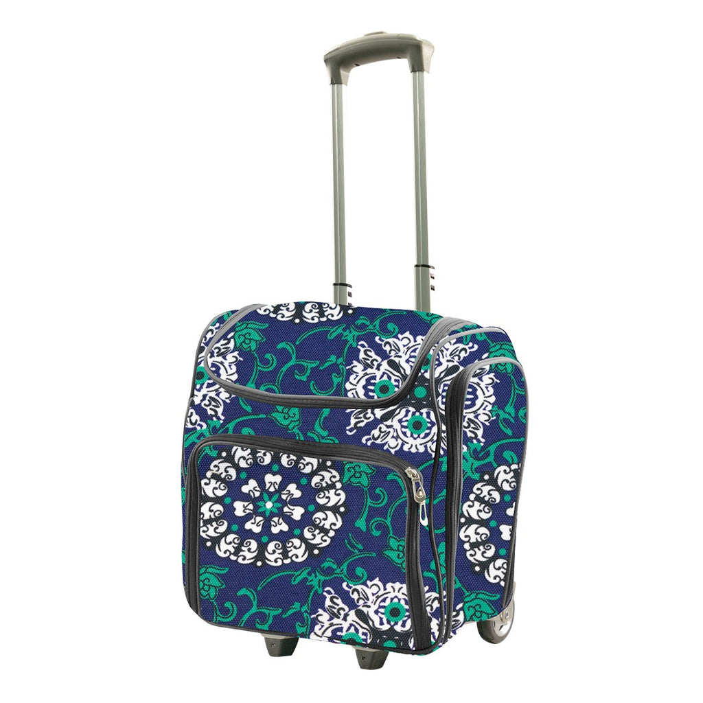 d70d435a7957 Couture Creations Craft Tote - Craft Rolling Travel Trolley - Blue ...