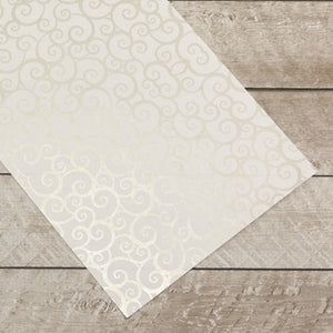 Special Occasions - Silver Swirls Foiled on A4 White Paper (10 Sheets)
