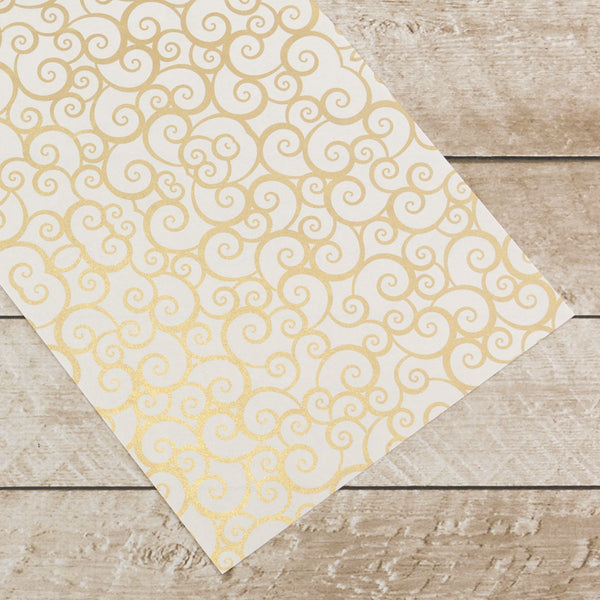 Special Occasions - Gold Swirls Foiled on A4 White Paper (10 Sheets)