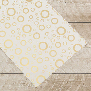 Special Occasions - Gold Circles Foiled on A4 White Paper (10 Sheets)
