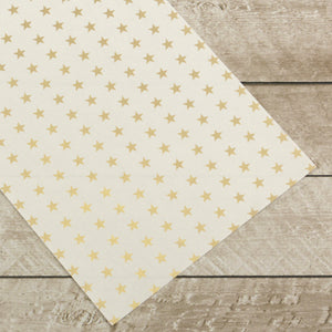 Special Occasions - Gold Stars Foiled on A4 White Paper (10 Sheets)