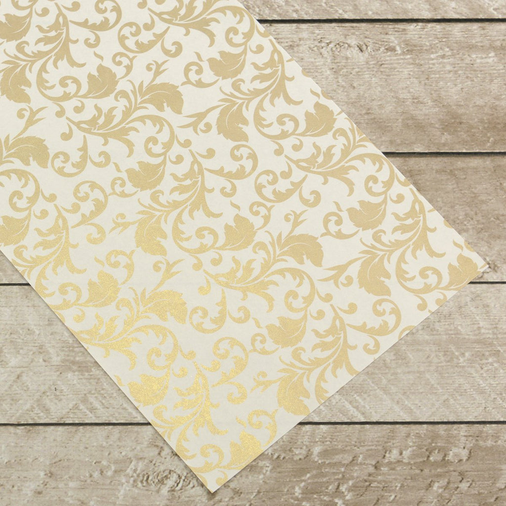 e74a3bbddc1 Special Occasions - Gold Damask Foiled on A4 White Paper (10 Sheets ...
