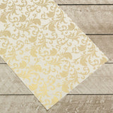 Special Occasions - Gold Damask Foiled on A4 White Paper (10 Sheets)