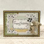 Modern Essentials Collection Cut, Foil and Emboss - Decorative Nesting Treasured Frames WH