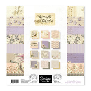 Couture Creations Butterfly Garden Collection - 12 x 12 Paper Pad | Couture Creations