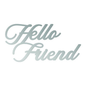 Couture Creations Butterfly Garden Collection - Hello Friend Mini Die WH | Couture Creations
