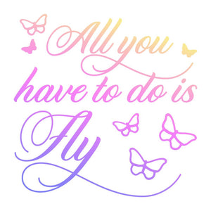 Couture Creations Butterfly Garden Collection - All You Have To Do Mini Stamp WH | Couture Creations