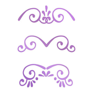 Couture Creations Butterfly Garden Collection - Mini Borders Hotfoil Stamp | Couture Creations